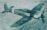 Samolot myśliwsko-bombowy Focke-Wulf Fw-190G-3 w locie. Samolot został zdobyły przez Amerykanów i przetransportowany do USA. (Źródło: via Lotnictwo Aviation International nr 5/1991).