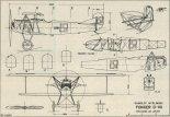 Fokker D-VII, plany modelarskie. (Źródło: Modelarz nr 4/1976).