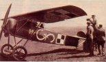 Por. pil. Stefan Stec w kabinie samolotu Fokker E-V. (Źródło: archiwum).