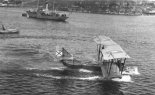 Łatająca łódź M-5 podczas startu. (Źródło: archiwum).