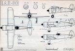 IAR-80, plany modelarskie. (Źródło: Modelarz nr 7/1970).