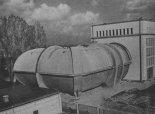 Tunel aerodynamiczny w  Instytucie  Lotnictwa w Warszawie. (Źródło: Skrzydlata Polska nr 36-37/ 1957).