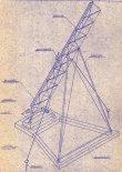 """Wyrzutnia rakiet, rysunek. (Źródło: """"Opis i Instrukcja Eksploatacji Rakiety Meteorologicznej Meteor-1"""". Instytut Lotnictwa. Warszawa 1965)."""