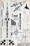 """IL """"Meteor-2H"""", plany modelarskie. (Źródło: Modelarz nr 1/1971)."""