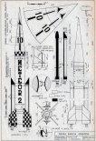 """IL """"Meteor-2K"""", plany modelarskie. (Źródło: Modelarz nr 7/1971)."""