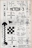 """IL """"Meteor 3"""", plany modelarskie. (Źródło: Modelarz nr 3/1971)."""