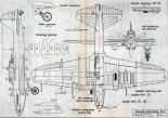 Iljuszyn Ił-2m3, plany modelarskie. (Źródło: Modelarz nr 2/1979).