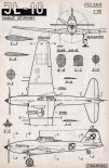 Iljuszyn Ił-10, plany modelarskie. (Źródło: Modelarz nr 1/1958).
