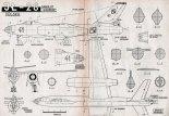 Iljuszyn Ił-28, plany modelarskie. (Źródło: Modelarz nr 8/1958).