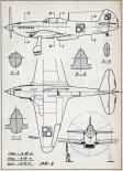 Jakowlew Jak-3, plany modelarskie. (Źródło: Modelarz nr 7/1969).