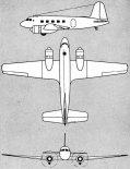 Jakowlew Jak-16, rysunek w trzech rzutach. (Źródło: archiwum).