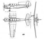 Jakowlew Jak-18, rysunek w trzech rzutach. (Źródło: Skrzydlata Polska nr 30/1964).