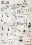 Jak-23, plany modelarskie. (Źródło: Modelarz nr 2/1962).
