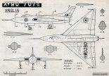 Avro 707A, plany modelarskie. (Źródło: Modelarz nr 9/1957).