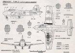 """Hunting-Percival P.84 """"Jet Provost"""" T Mk.2, plany modelarskie. (Źródło: Modelarz nr 6/1962)."""