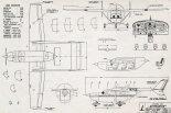 "Cessna 336 ""Skymaster"", plany modelarskie. (Źródło: Modelarz nr 7-8/1967)."