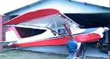 """Samolot amatorski B2 """"Gawronek"""". (Źródło: zrzut ekranu Krzysztof Luto)."""