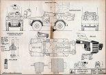 """Samochód panerny hornet z pociskami GAF """"Malkara"""" Mk.1A , plany modelarskie. (Źródło: Modelarz nr 12/1970)."""