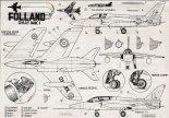 "Folland ""Gnat"" Mk1, plany modelarskie. (Źródło: Modelarz nr 11/1961)."