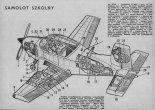 """Pacific Aerospace CT-4 """"Airtrainer"""", przekrój perspektywiczny.  (Źródło: Skrzydlata Polska nr 3/1976)."""