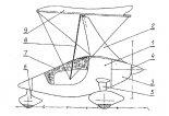 """Rysunek patentowy motolotni """"Szaman"""". (Źródło: """"Biuletyn Urzędu Patentowego"""" nr 6/1998.)."""