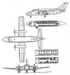 Wersja PZL M19.2 dla 32 pasażerów. (Źródło: ze zbiorów Józefa Oleksiaka).
