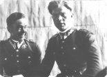 Romuald Staniewicz ze swoim kolegą z Suwał - ppor. Józefem Brzezińskim. (Źródło: via Zbigniew Charytoniuk).