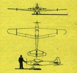 """Amatorski samolot sportowy """"Ortolan 2"""". Rysunek w trzech rzutach. (Źródło: Skrzydlata Polska nr 9/1975)."""