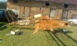 """Prototyp dwumiejscowej wersji samolotu JDT """"Mini-Max"""" w trakcie budowy. (Źródło: Copyright kazek19_2006 via """" Allegro.pl"""")."""