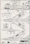 "English Electric ""Lightning"" F1A, plany modelarskie. (Źródło: Modelarz nr 3/1964)."