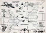 "De Havilland DH-110 ""Sea Vixen"", plany modelarskie. (Źródło: Modelarz nr 9/1961)."