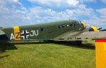 """Junkers Ju-52 w widoku z prawej strony. Pokazy w Mladé Boleslavi, czerwiec 2012 r. (Źródło: L. Zápařka - """"LZ- przedstawiciel czeskiego przemysłu lotniczego w Polsce"""")."""