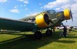 """Junkers Ju-52. Przód samolotu. Pokazy w Mladé Boleslavi, czerwiec 2012 r. (Źródło: L. Zápařka - """"LZ- przedstawiciel czeskiego przemysłu lotniczego w Polsce"""")."""