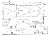 Schemat pogladowy lotów holowanych z boczną asekuracją. (Źródło: Młody Technik nr 3/1977).