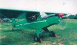 """Samolot KO-11 """"Gośka"""". Próba silnika przed lotem. (Źródło: Przegląd Lotniczy Aviation Revue nr 9/2000)."""