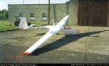 """Motoszybowiec """"Moto Lis"""" zbudowany przez Reginalda Pobłockiego. Nr rejestracyjne zmienione na PL-GKX. (Źródło: Reginald Pobłocki via www.szybowce.fotoedytor.com)."""