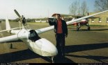 """Motoszybowiec """"Moto Lis"""" (SP-2360) zbudowany przez Reginalda Pobłockiego. (Źródło: Reginald Pobłocki via www.szybowce.fotoedytor.com)."""