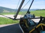 Motolotnia Andrzeja Gumula z wózkiem jego konstrukcji i silnikiem Subaru EA-81. Tablica przyrządów. (Źródło: Copyright Andrzej Gumula).
