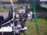 """Motolotnia  składająca się z wózka Antares """"Graffiti"""" z silnikiem Rotax 582 i skrzydłem """"Libre 3&#8221 (SP-MSZT). Silnik Rotax 582. (Źródło: via Zbigniew Przysiecki)."""