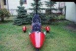 Wózek motolotniowy Ohar, bez napędu, w widoku z przodu. (Źródło: archiwum).
