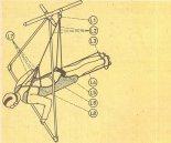 Uprząż do lotów w pozycji leżącej. (Źródło: Zrób Sam nr 4/1980).