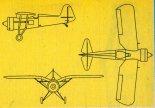 Historical Aircraft PZL P.11c, rysunek w trzech rzutach. (Źródło: Skrzydlata Polska nr 44/1990).