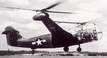 Wersja śmigłowca Platt-LePage XR-1A w locie. (Źródło: USAAF).