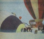 Balon Canon (pierwszy z lewej) na starcie IV Mistrzostw Świata Balonów na Ogrzane Powietrze w Upsalli, styczeń 1979 r. (Źródło: Skrzydlata Polska nr 10/1979).