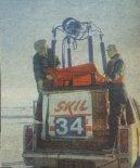 Kosz balonu Canon na samochodzie. IV Mistrzostwa Świata Balonów na Ogrzane Powietrze w Upsalli, styczeń 1979 r. (Źródło: Skrzydlata Polska nr 10/1979).