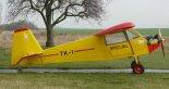 """Samolot TK-1 """"Żółtek"""" w Kłobucku, zdjęcie wykonane w dniu 06.12.2018 r. (Źródło: Copyright Mikołaj Lech)."""