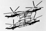 """Piasecki PA-39 Multiple Helicopter Heavy Lift System w drugiej wersji, złożonej z czterech śmigłowców CH-53E. (Źródło: via """"Piasecki Aircraft Corporation"""")."""