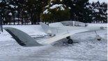"""Samolot doświadczalny Aeroem """"Małgosia II"""" jeszcze przed ukończeniem budowy, styczeń 2012 r. (Źródło: via Edward Margański)."""