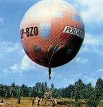 Balon gazowy Polonez (SP-BZO) podczas przygotowań do startu. (Źródło: Spadochroniarz. Magazyn Spadochroniarzy Polskich nr 70 (2/2013).