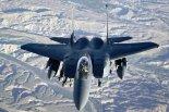 """Wielozadaniowy samolot myśliwski  F-15E """"Strike Eagle"""" wykonujący zadania nad Afganistanem. (Źródło: U. S. Air Force)."""